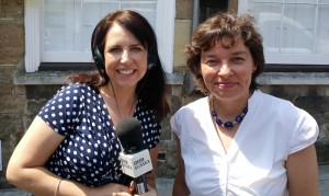 Lynne with Allison Ferns BBC Sussex